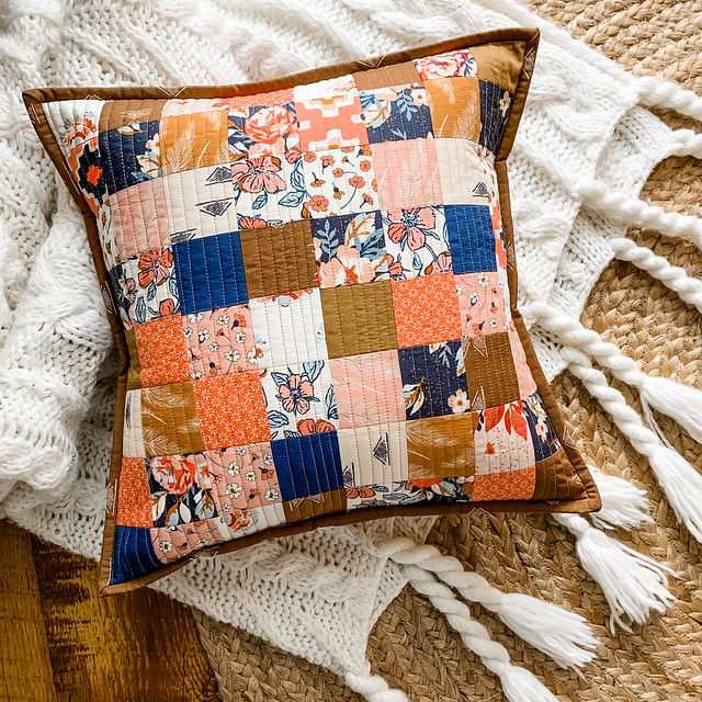 Homebody Patchwork Pillow