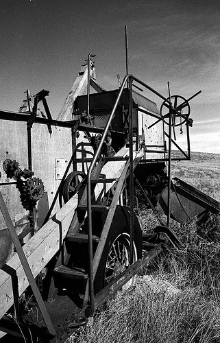 Abandoned Grain Thresher, SE Washington State. {Explored, thank you}