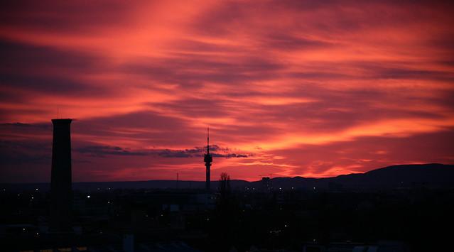 The sky over Kőbánya