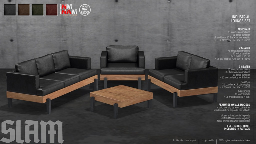 SLAM // industrial lounge set @ MAN CAVE
