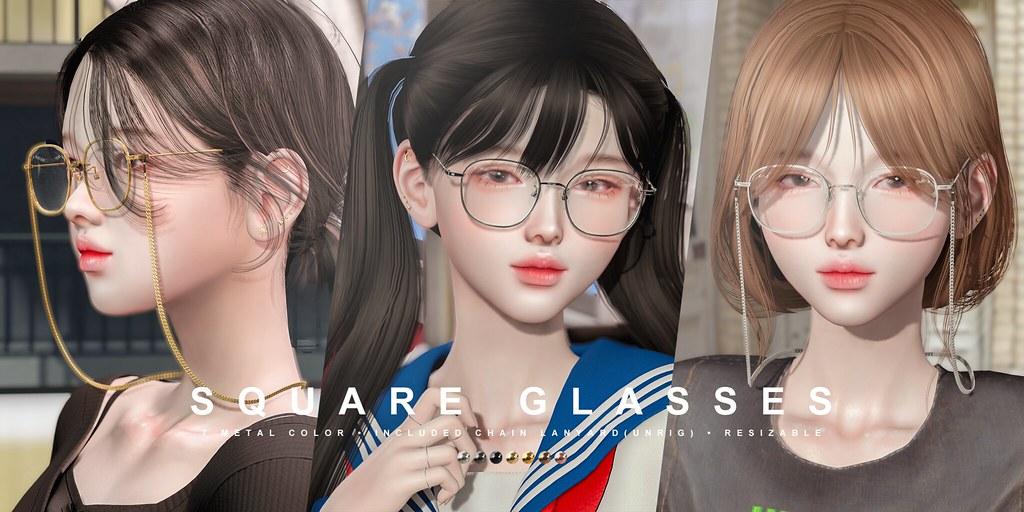 cheezu. square glasses x kustom9