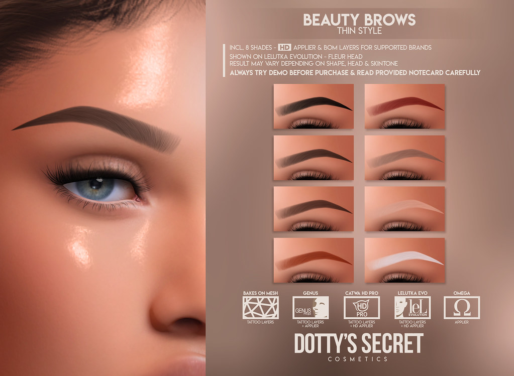 Dotty's Secret - Beauty Brows - Thin Set @Skin Fair 2021