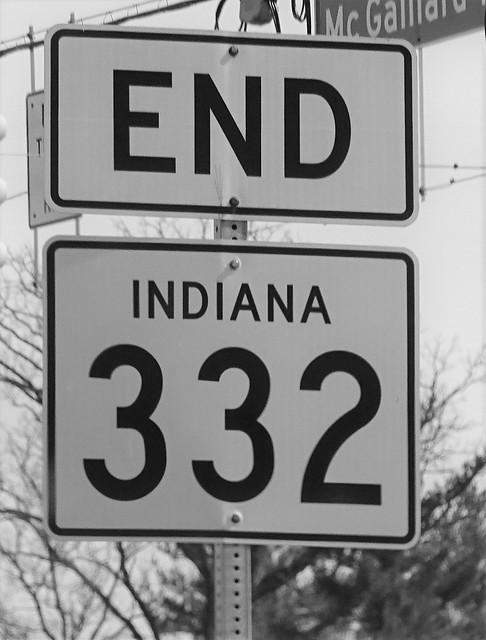 IN, Muncie-End IN 332 Sign
