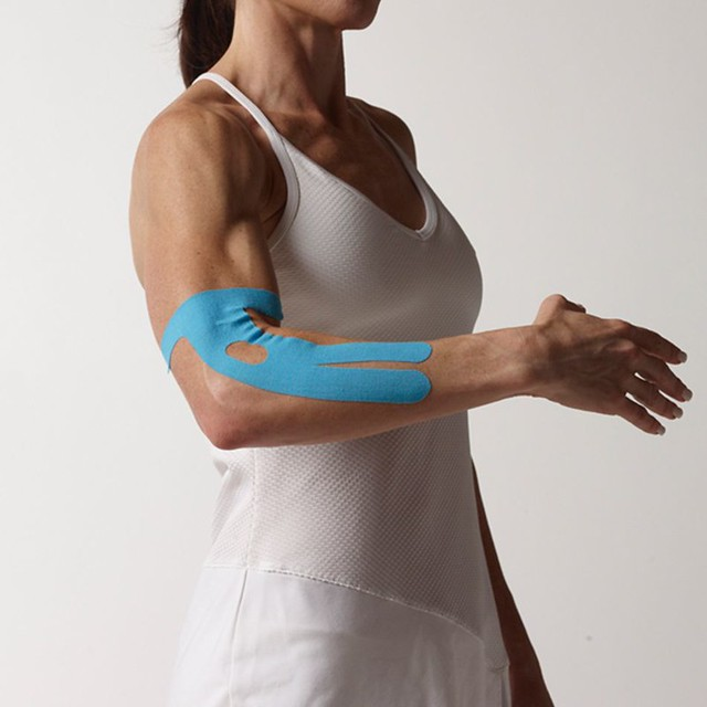 SpiderTech_Elbow Pre-Cut Kinesiology Tape_Blue