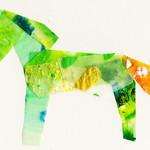 馬 薄緑×橙