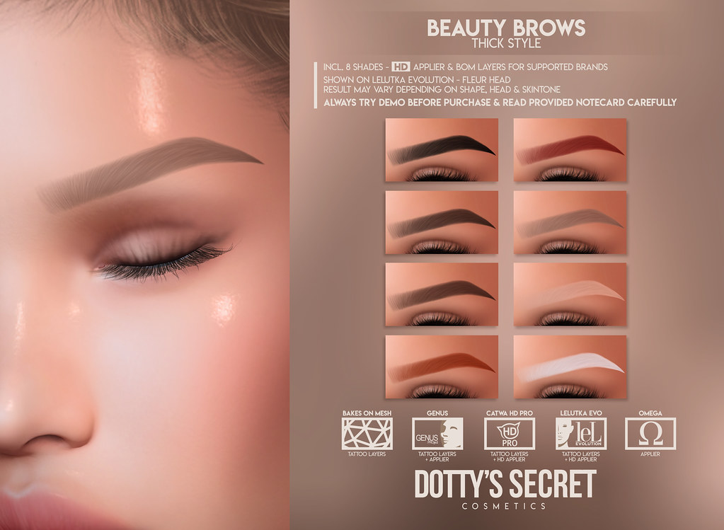 Dotty's Secret - Beauty Brows - Thick Set @Skin Fair 2021
