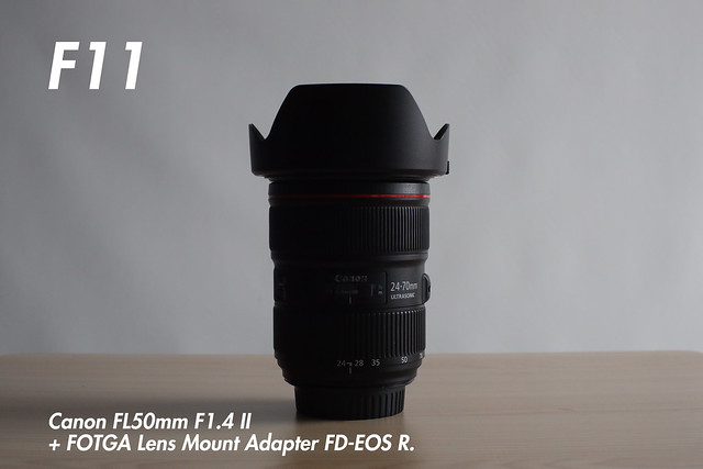 [ f11 ]  FL 50mm f1.4 II + FOTGA Lens Mount Adapter FD-EOS R (for FL and FD-Mount Lens to Canon RF Mount Camera).