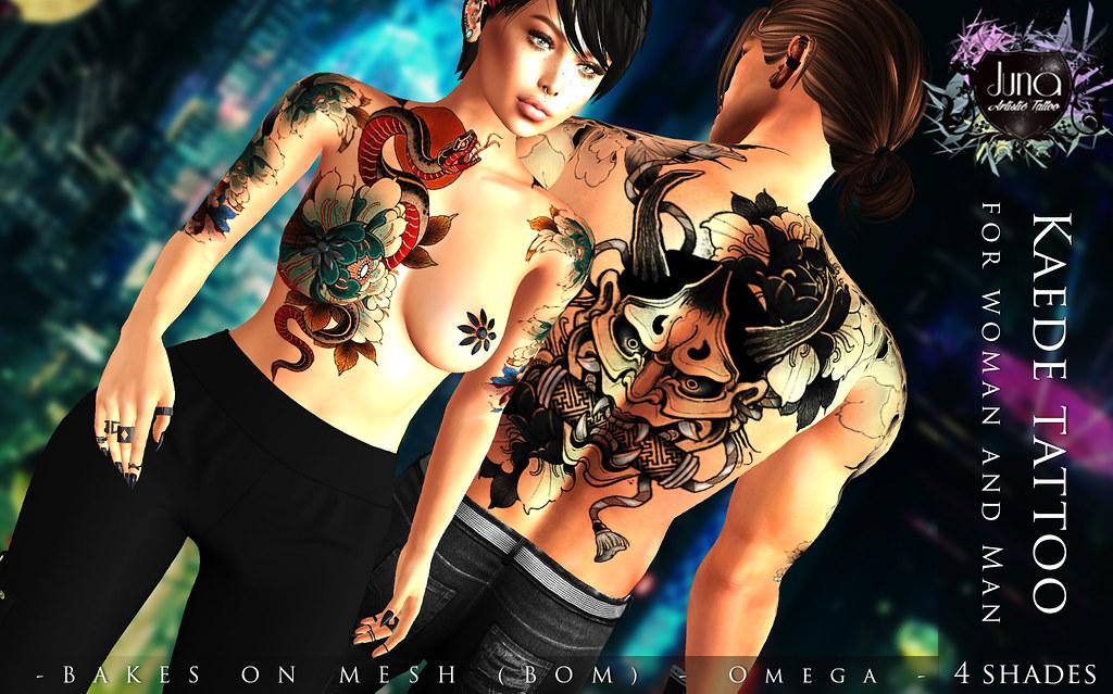 Kaede tattoo Unisex