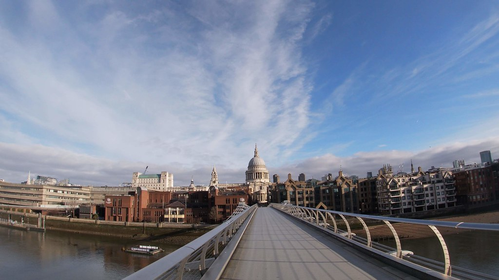 View of St Pauls Cathedral from the Millenium Bridge London