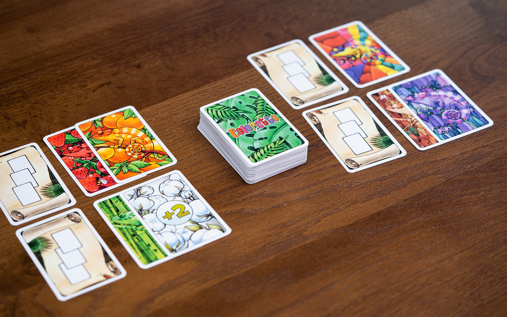 Coloretto boardgame juego de mesa