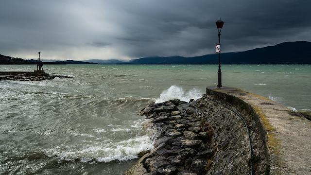 Arrivée de la tempête Luis sur le Lac de Neuchâtel (Switzerland)