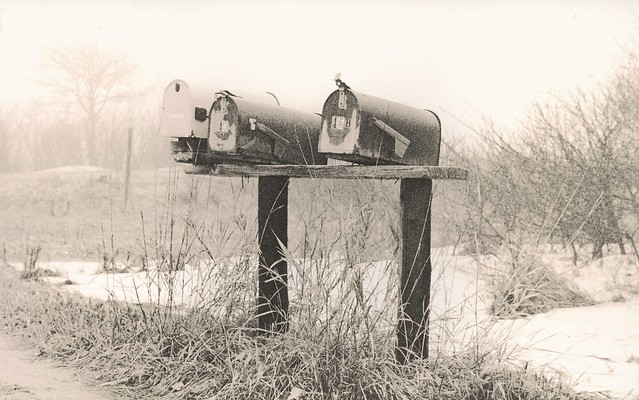 455 - Mail Boxes - Lith Print
