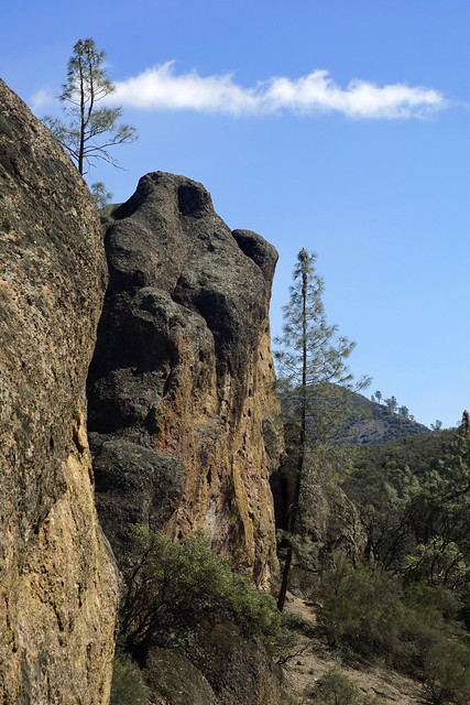 Outcrops of eroded volcano at pinnacles national park