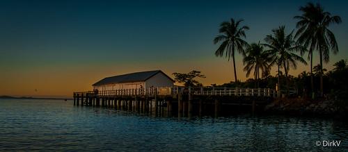 sugarwharf portdouglas australia australië sunset sea