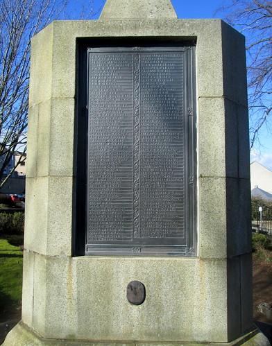 Names, War Memorial, Inverkeithing