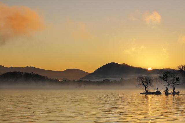 Just sunrise on Lake Hibara