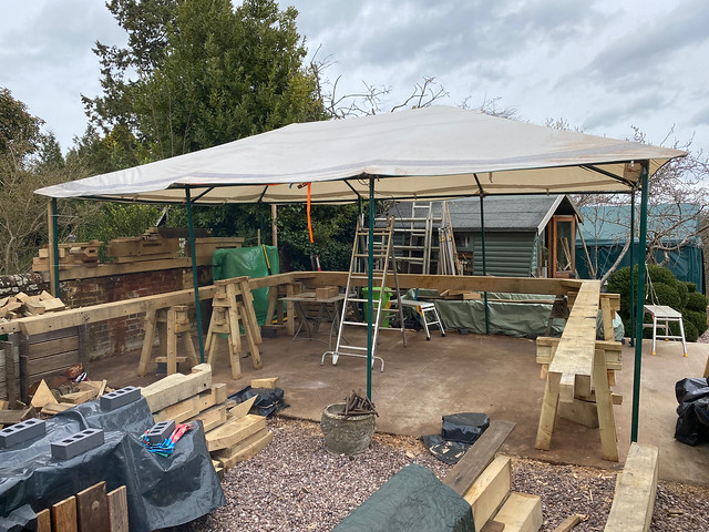 Tent goes back up - 14/3/21