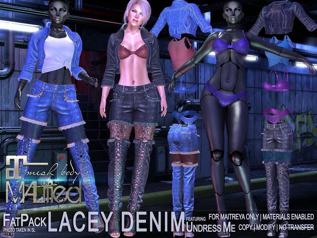 MALified – Undress-Me Lacey Denim Outfits – FatPack