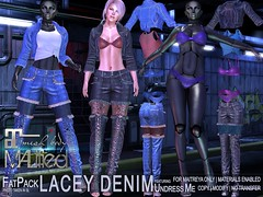 MALified - Undress-Me Lacey Denim Outfits - FatPack