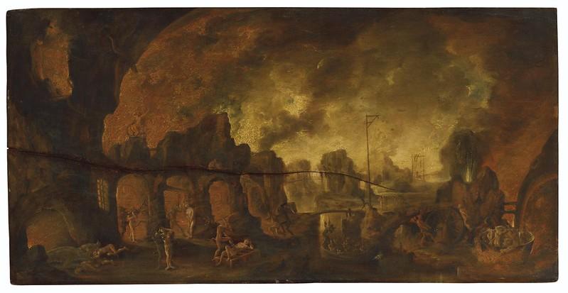 Follower of Jacob van Swanenburgh -  Devils torturing sinners in Hell
