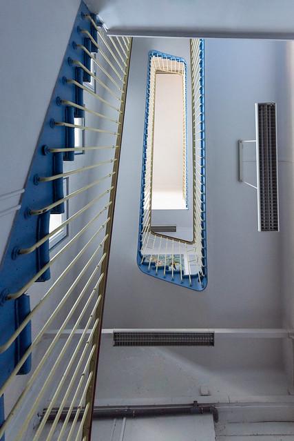 stair blue
