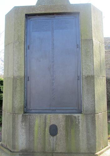 More Names, War Memorial, Inverkeithing