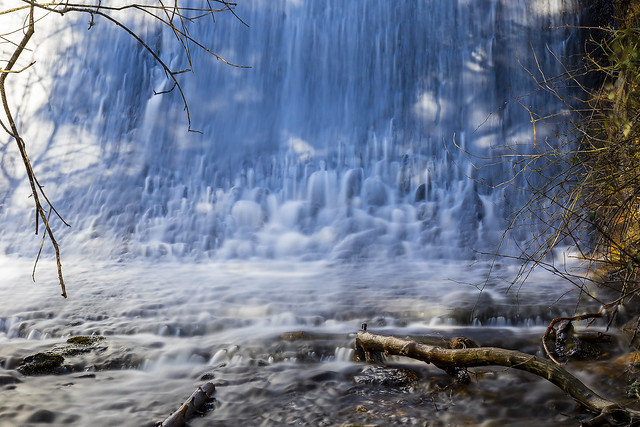 Waterfall in La Barranca, Madrid, Spain