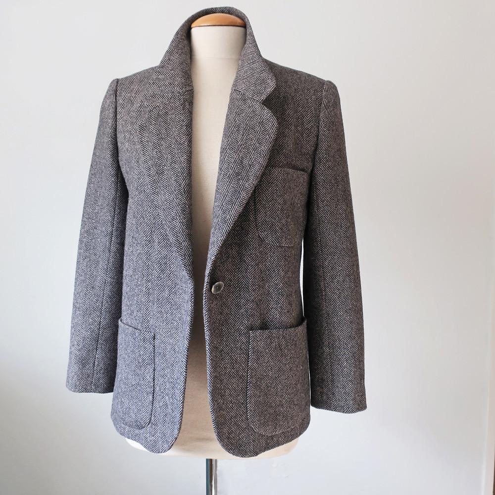Tweed blazer sq