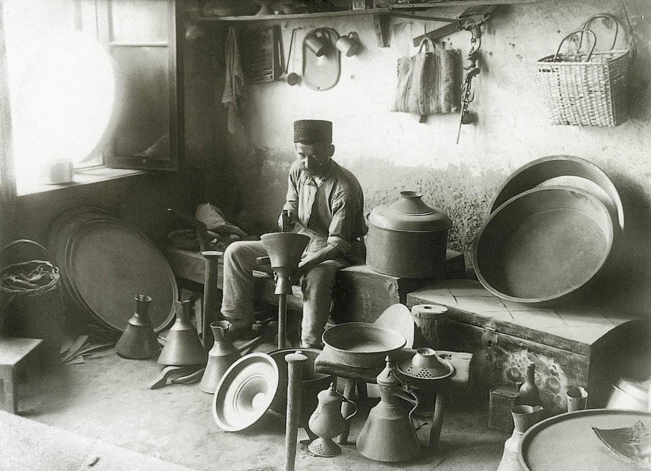 Лавка медника. Бахчисарай. 1920