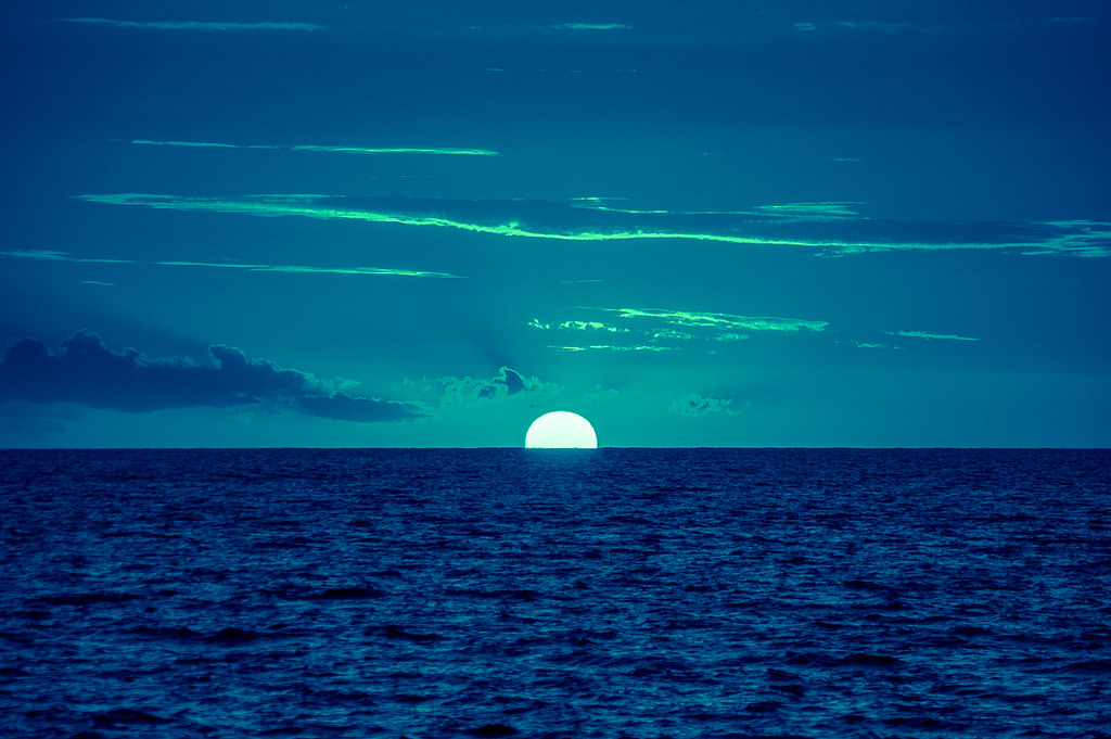 Sunset in blue