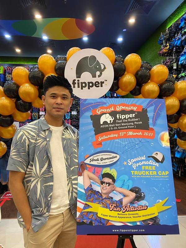 Selepas PKP, Andi Bernadee Buat Kemunculan Kali Pertama Di Butik Fipper Sitiawan