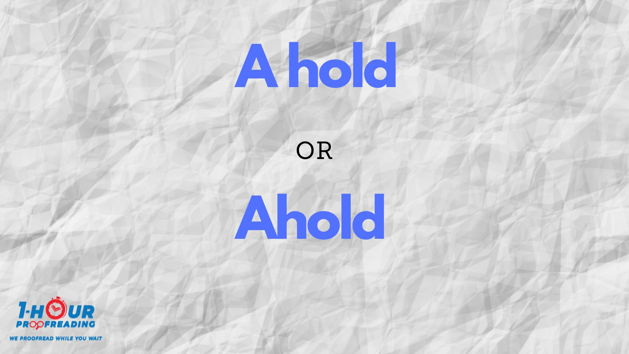 A Hold from Ahold