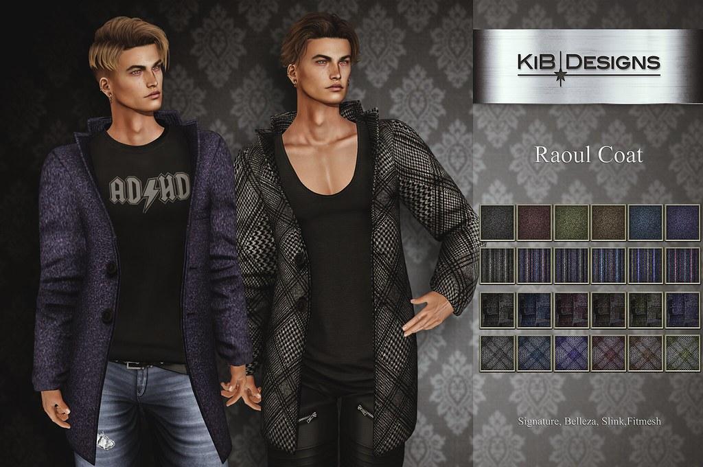 KiB Designs – Raoul Coat @101L 19th March
