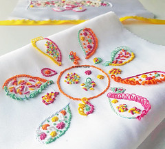 hand embroidery on silk