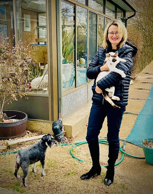 Iwona with kitty