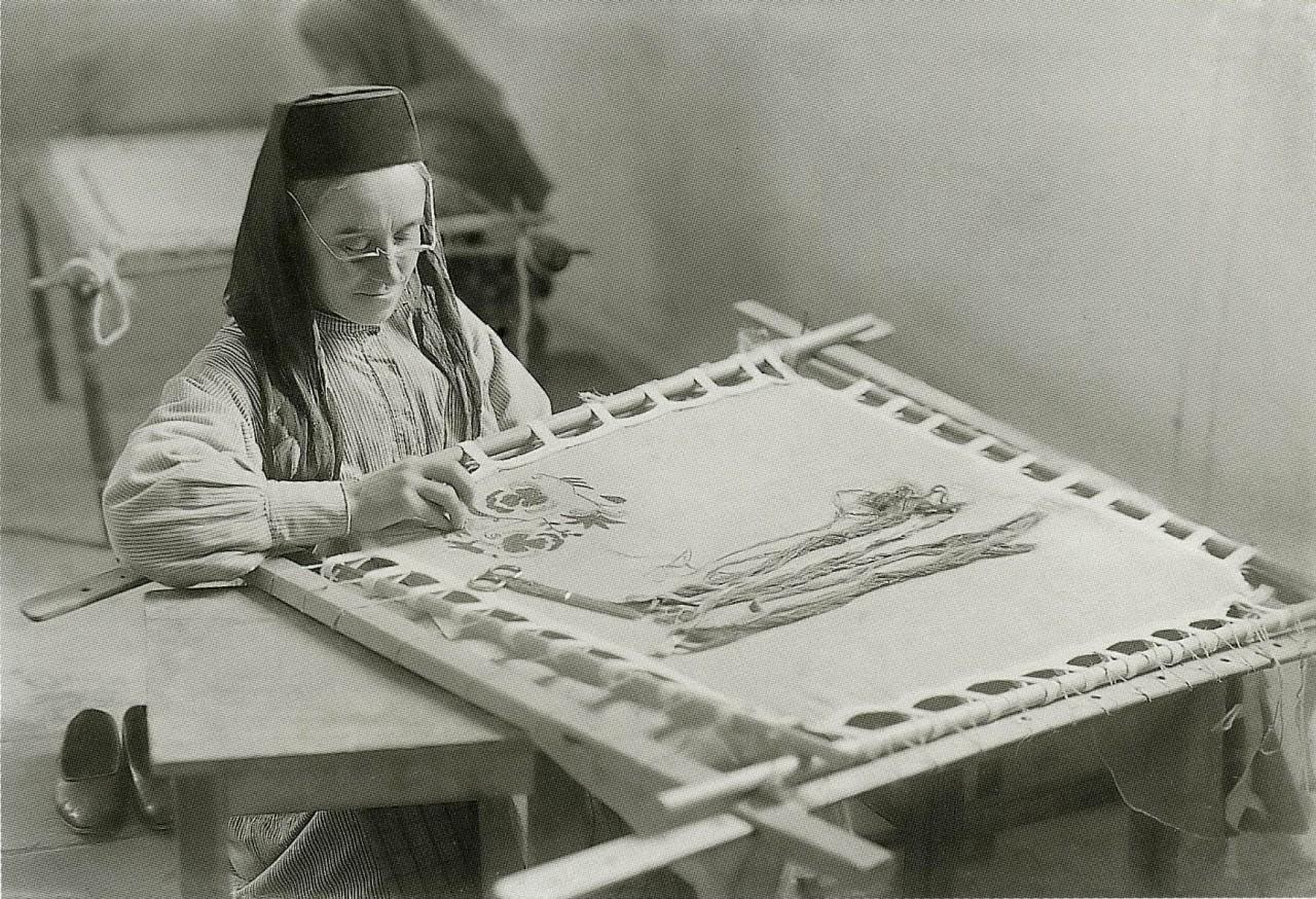 Вышивальщица. Бахчисарай. 1920
