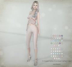 -siss boom-crimped halter combed cotton capri ad