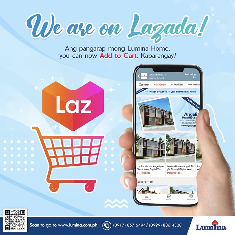 Lumina Homes, nasa Lazada 'yan!