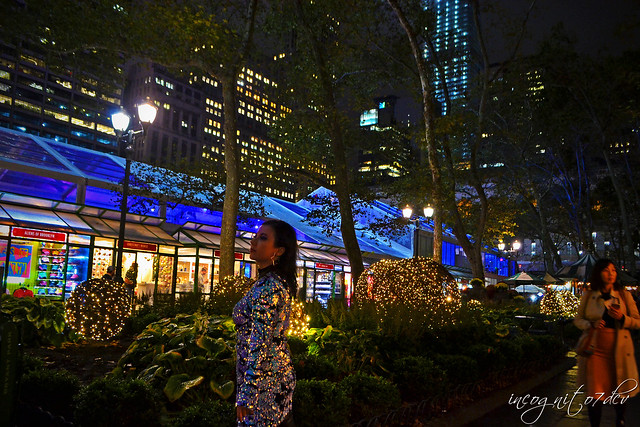 Me & The Beautiful Bryant Park Winter Village at Night Midtown Manhattan New York City NY P00832 DSC_3596