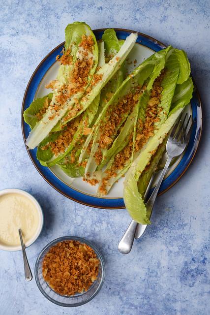 Caesar Salad Leaves Side Salad