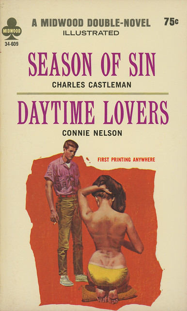 Midwood Books 34-609 - Charles Castleman - Season of Sin / Connie Nelson - Daytime Lovers