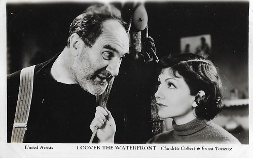 Claudette Colbert and Ernest Torrence in I Cover the Waterfront