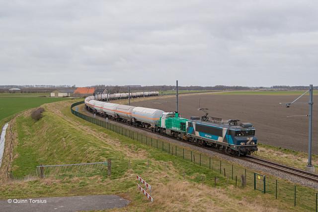 TCS 101003 + IRP 2201 in opzending onderweg naar Sloe, 15 maart 2021