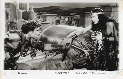 Claudette Colbert and Henry Wilcoxon in Cleopatra