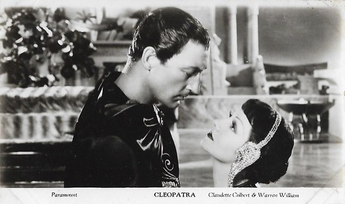 Claudette Colbert and Warren William in Cleopatra