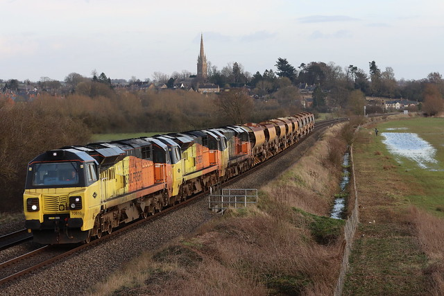 70810 & 70811 & 70812 Working 6M28 Hinksey to Bescot through Kings sutton 15/03/2021