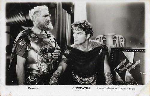 Henry Wilcoxon and C. Aubrey Smith in Cleopatra