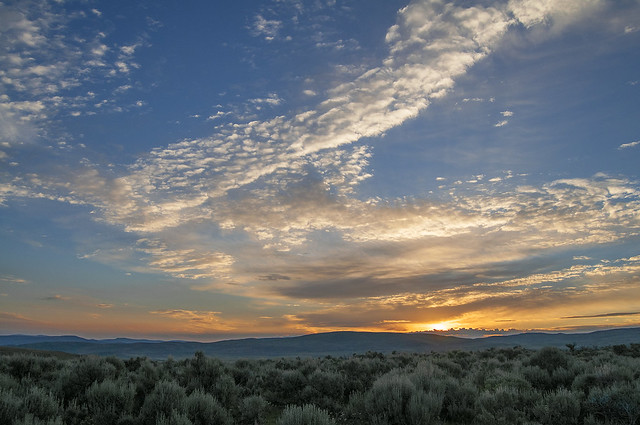 Sunrise on the Bear River Divide. SW Wyoming