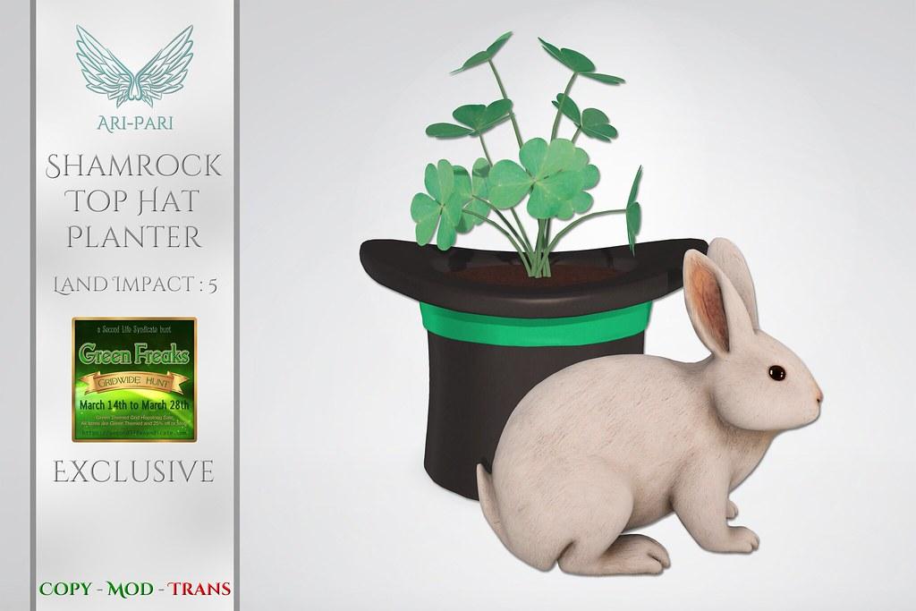 [Ari-Pari] Shamrock Top Hat Planter
