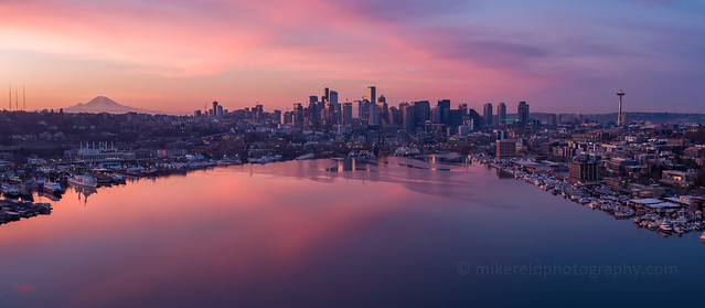 Seattle Sunrise Pano X5s 15mm